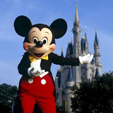 Mickey Mouse welcomes you to the Magic Kingdom