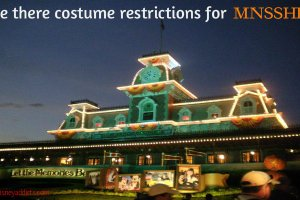 Are there costume restrictions for Mickey's Not So Scary Halloween Party? 5