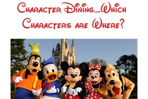 Character Dining at Walt Disney World - Which Characters are Where? 7