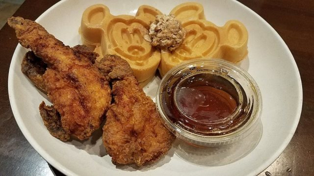 Chicken and Mickey Waffle