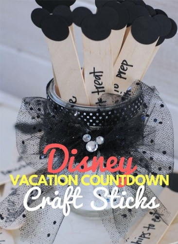Disney DIY Trip Countdown Crafts 4