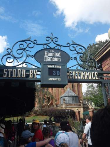 Haunted mansion entrance