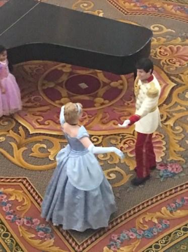 Cinderella and Prince Charming waltz