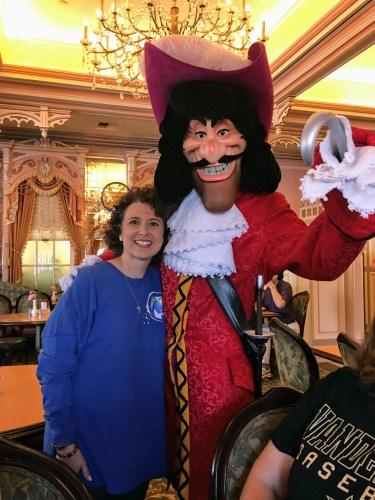 Captain Hook character meet-n-greet Plaza Inn Disneyland