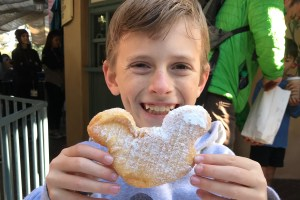 Mickey shaped beignet Disney