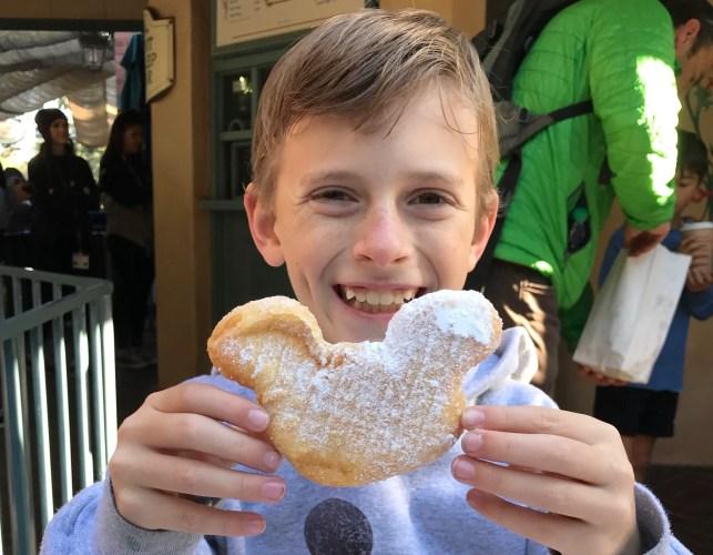 Mickey shaped beignet