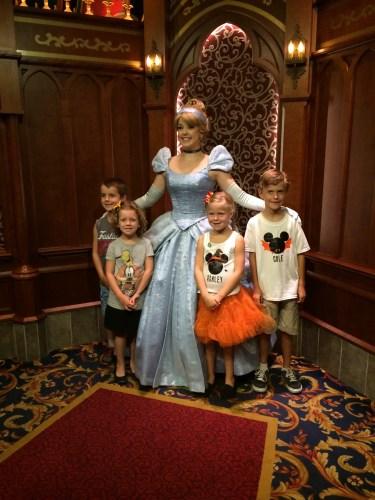 Cinderella at Royal Hall in Disneyland