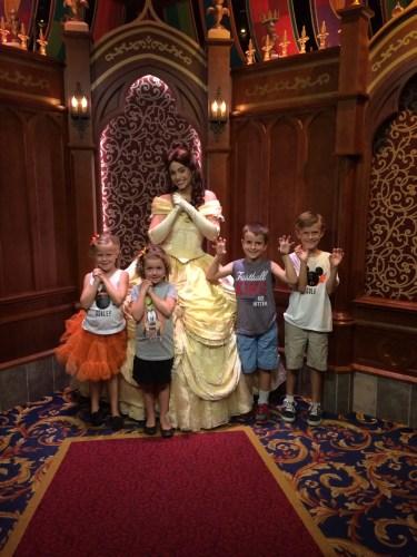 Belle at Royal Hall in Disneyland