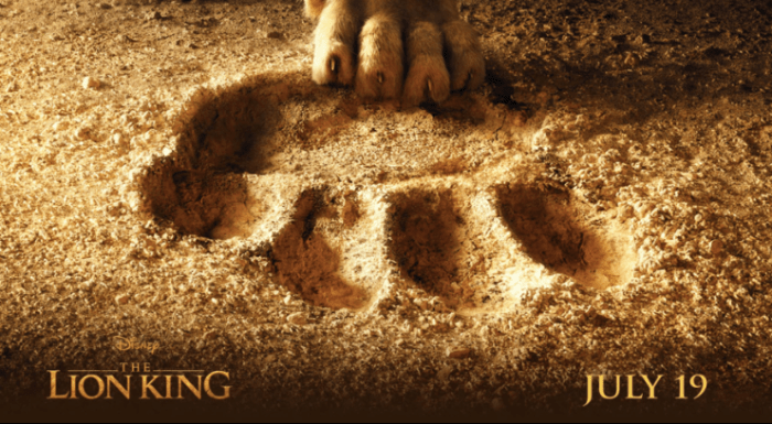 Lion King Movie in Theaters July 19