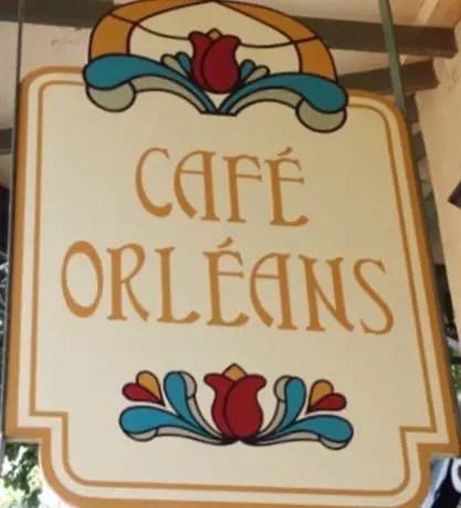 Cafe Orleans Sign in Disneyland