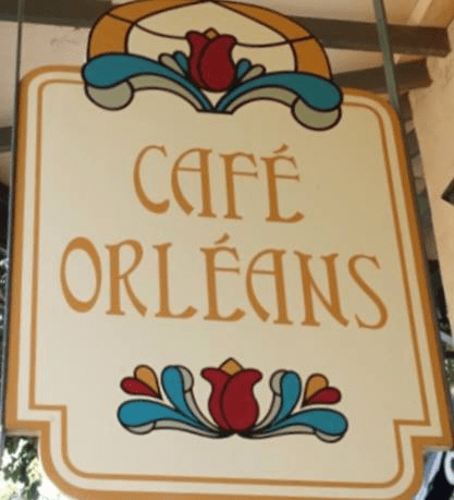 Cafe Orleans Sign in Disneyland