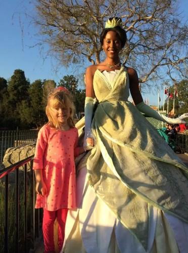 Tiana in Disneyland