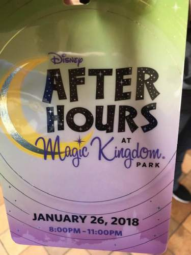 Disney After Hours Ticket Badge