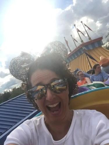 Riding Dumbo Magic Kingdom