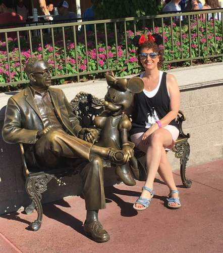 Relaxing with Roy Disney and Minnie Mouse