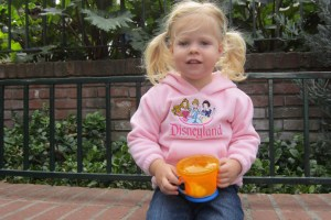 Ashley Eating a Snack in Disneyland