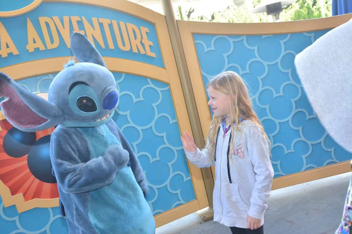 Ashley interacting with Stitch