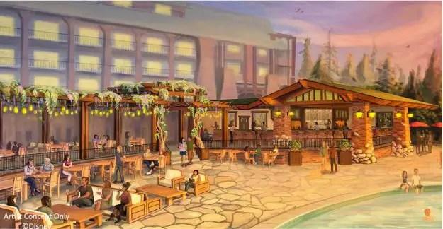 Pool Bar at Grand Californian Resort and Spa