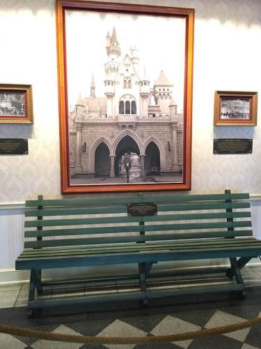 Walt's Bench at Disneyland