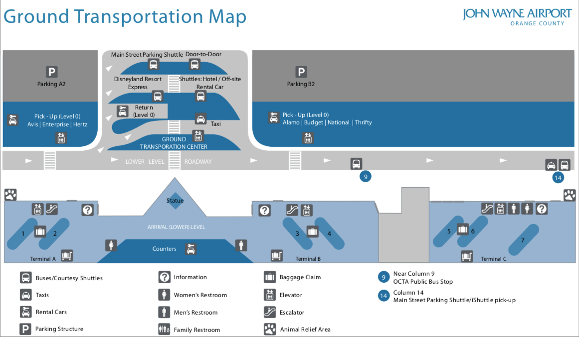SNA Transportation map