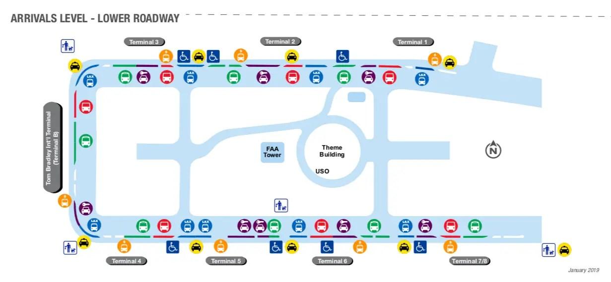 LAX Transportation Map