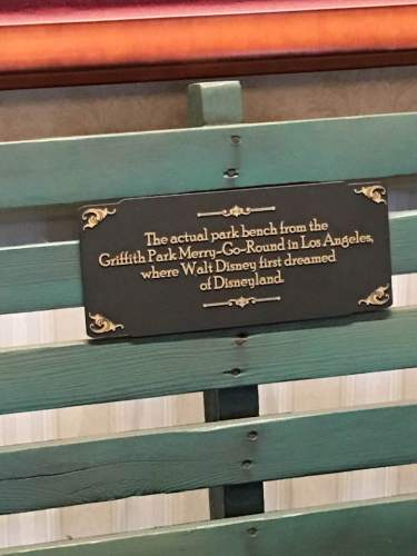 Griffith Park Bench inscription