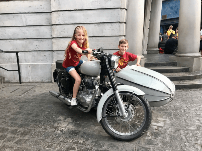 Hagrid's Motorbike and sidecar