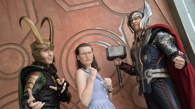 Thor and Loki in Disney's California Adventure