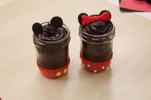 Mickey cupcake jars