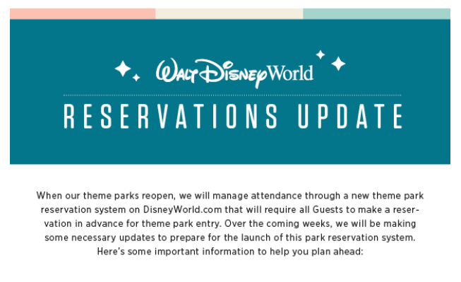 What You Need to Know About Disney World's Reservation Updates 2