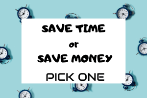 Disney Planning: Save Money or Save Time. Pick 1! 2