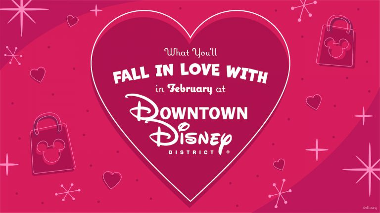 Valentine Gifts and Goodies in Downtown Disney District at Disneyland Resort