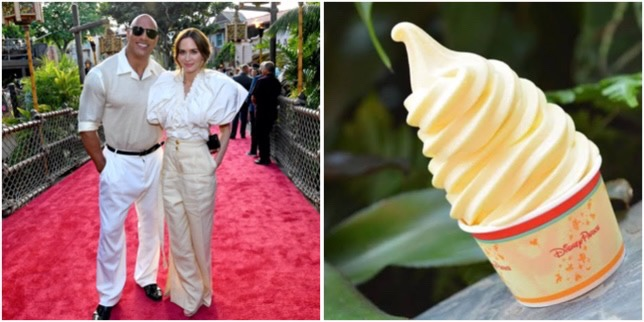"""Dwayne """"The Rock"""" Johnson And Emily Blunt Talk Dole Whips At Jungle Cruise Premiere!"""