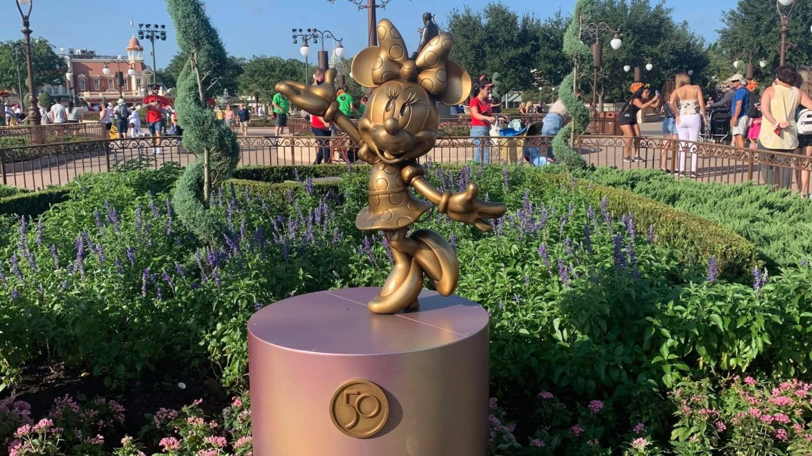 Disney Fab 50 Statues Now On Display In The Magic Kingdom!