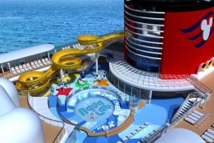 Afbeeldingsresultaat voor Disney Wonder new waterslide