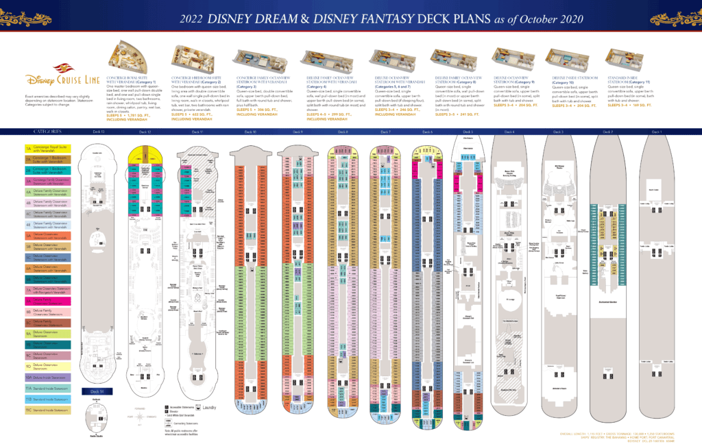 DCL Deck Plans Dream Fantasy 2022