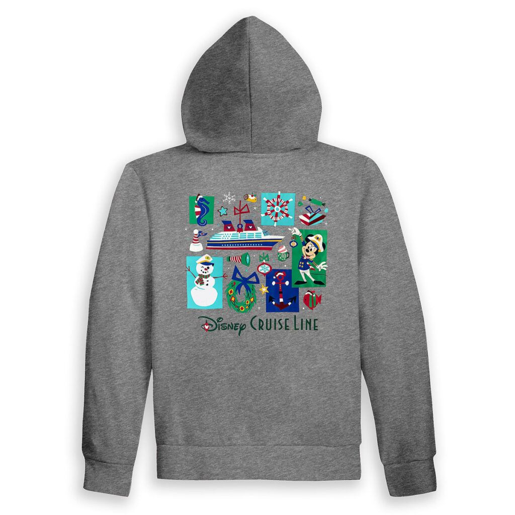 DCL Holiday Zip Hoodie Adult Back