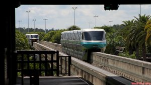 Disney World's Blue Monorail