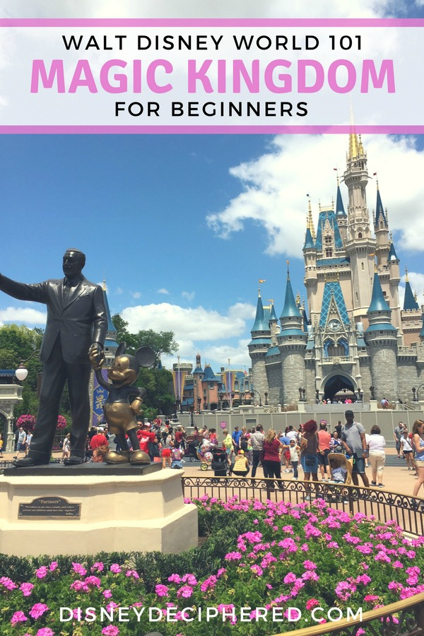 Tips for visiting the Magic Kingdom at Walt Disney World. A beginner's guide to park basics and secrets, the best food, and must do rides. #disney #disneyworld #waltdisneyworld #magickingdom #disneysmmc #disneydeciphered