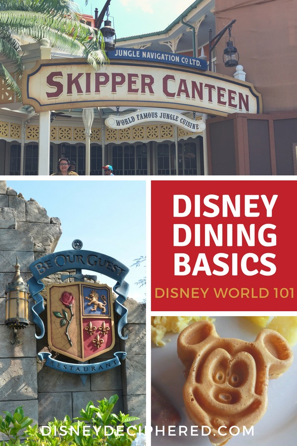An overview of all the dining options at Disney World - quick service and table service restaurants, character meals, and the best food and beverages in the Orlando theme parks. #disney #disneyfood #disneyworld #waltdisneyworld