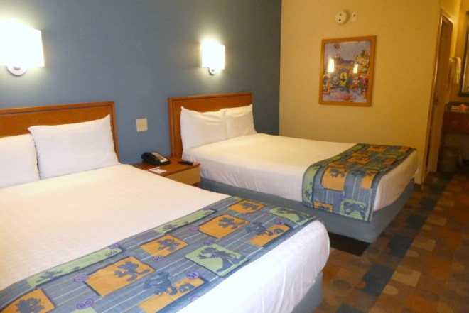 Disney Hotels 101 - Pop Century Room with Double Beds