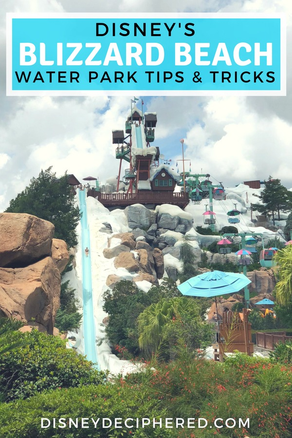 Tips for visiting Blizzard Beach - one of two water parks at Walt Disney World. The best slides, water play areas for babies and toddlers, and how to beat the crowds. #DisneyWorld #BlizzardBeach #DisneyWaterParks #WaterPark