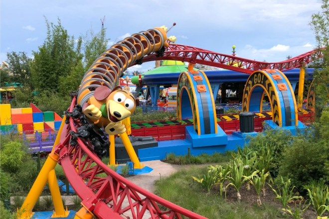 Toy Story Land Slinky Dog Dash Coaster First Time Disney World Visitors