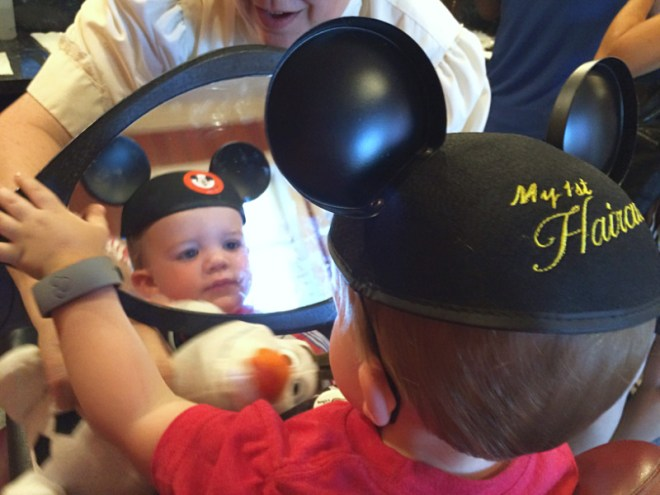 Disney World with a Baby - First Haircut
