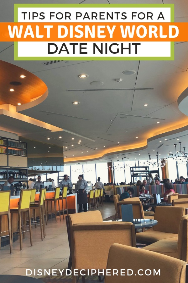 Need a date night without the kids on your Disney World vacation? Tips for parents to get an adults-only night out, from where to get reliable babysitting to the best restaurants for a romantic meal! #disneyworld #disneyforadults #datenight #disney