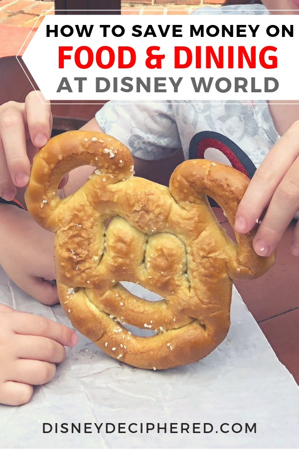 Money saving-tips and tricks for food and dining on your Walt Disney World vacation. #disneyworld #disneydeciphered #disney #disneyfood