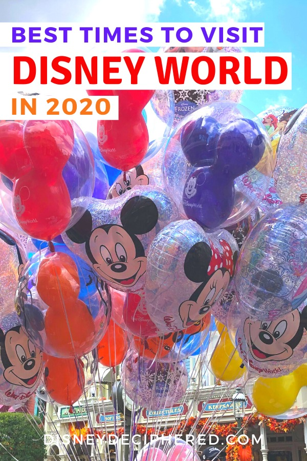 Planning a trip to Disney World in 2020? Here are the best times to go to avoid crowds, experience new attractions, and get the best prices. #disneyworld #disney