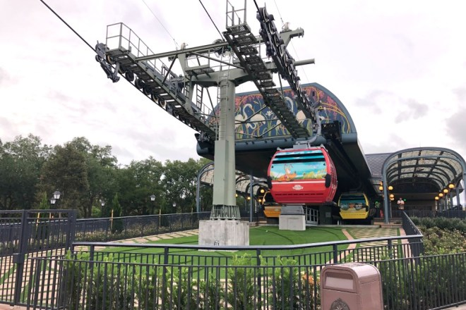 Epcot Under Construction - Disney Skyliner International Gateway