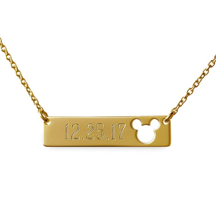 Rebecca Hook gold bar necklace personalizable
