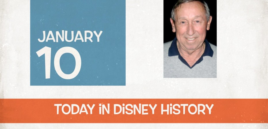 What happened on January 10 in Disney History